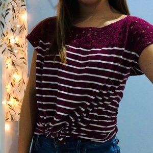 striped tied top